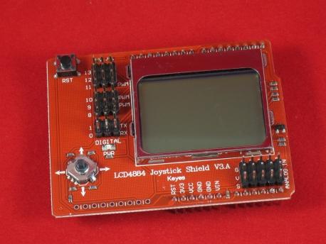 Графический дисплей LCD4884 с джойстиком