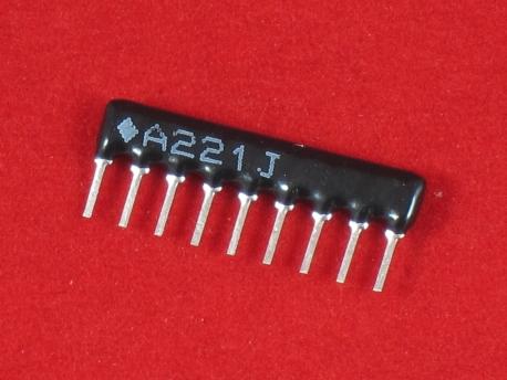 Резисторная сборка 220 Ом SIP-9