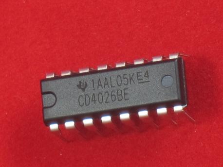 7-сегментный драйвер CD4026