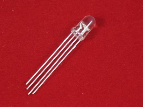 Светодиод полноцветный RGB 5мм с общим катодом