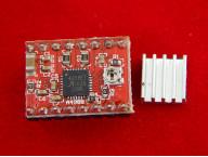 StepStick A4988 драйвер шагового двигателя с радиатором ( Красный)