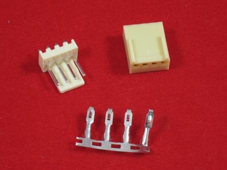 Разьем 4 пиновый KF2510-4P (комплект)