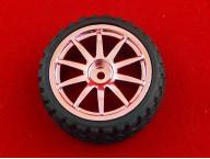 Колесо 65*27 мм (Розовый)