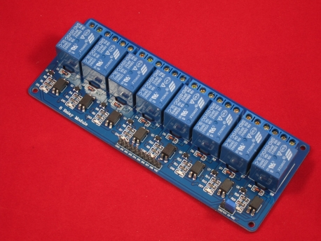 8-Канальный релейный модуль SRD-5VDC-SL-C с опторазвязкой