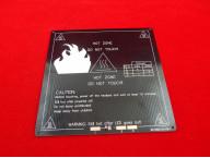 Подогреваемая платформа алюминиевая MK3 214x214х3mm